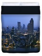 The Bangkok Skyline At Dusk Duvet Cover
