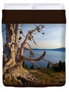 The Banks Of Crater Lake Duvet Cover