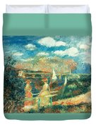 The Banks Of The Seine At Argenteuil Duvet Cover