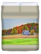 The Barn In Autumn Duvet Cover by Michael Garyet