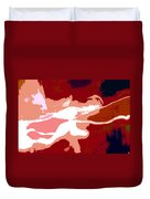 The Baseball Pitcher Duvet Cover by David Lee Thompson
