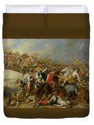 The Battle Between The Amazons And The Greeks Duvet Cover