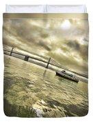 The Bay Bridge Cruz Duvet Cover
