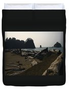 The Beach At Twilight Duvet Cover by Kym Backland