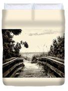 The Beach Path - Clearwater Beach Duvet Cover