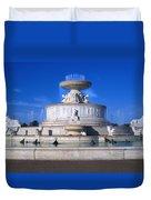 The Belle Isle Scott Fountain Duvet Cover by Gordon Dean II