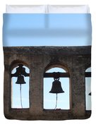 The Bells At The San Juan Capistrano Mission Duvet Cover