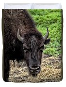 The Bison Stare Duvet Cover