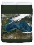 The Black Sea In Eastern Russia Duvet Cover