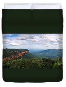 The Blue Mountains - Panoramic View Duvet Cover