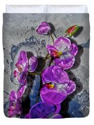 The Blue Orchid  Duvet Cover