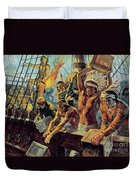 The Boston Tea Party Duvet Cover by Luis Arcas Brauner