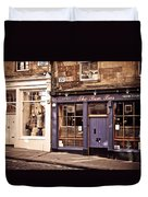 The Bow Bar. Edinburgh. Scotland Duvet Cover