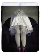 The Bride From Behind Duvet Cover by Joana Kruse