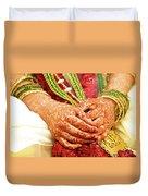 The Bride's Hands Duvet Cover