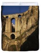 The Bridge At Ronda Spain Connects Duvet Cover