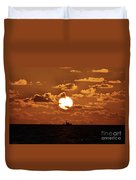 the Bronzy Sunset. Duvet Cover