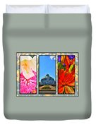 The Buffalo And Erie County Botanical Gardens Triptych Series Duvet Cover