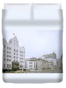 The Bund In Shanghai In China Duvet Cover
