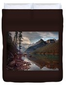 The Calm At Lake Louise Duvet Cover