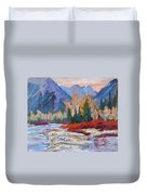 The Canadian Rockies Duvet Cover