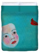 The Cardinal's Song Duvet Cover