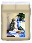 The Cat And The Cloth Duvet Cover