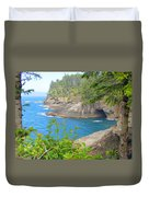 The Caves Of Cape Flattery  Duvet Cover