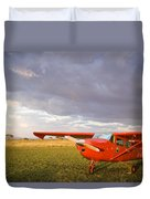 The Cessna Makes A Pit Stop To Refuel Duvet Cover