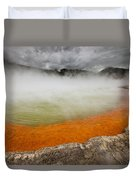 The Champagne Pool In Wai O Tapu Duvet Cover