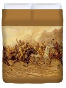 The Charge Of The Bengal Lancers At Neuve Chapelle Duvet Cover