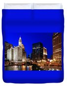 The Chicago River Duvet Cover