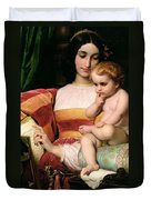 The Childhood Of Pico Della Mirandola Duvet Cover