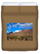 The Chisos Mountains Big Bend Texas Duvet Cover