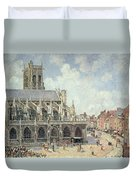 The Church Of Saint Jacques In Dieppe Duvet Cover by Camille Pissarro