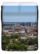 The City Of Birmingham Alabama Usa Vertical Duvet Cover