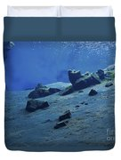 The Clear Water Of The Lagoon At Silfra Duvet Cover