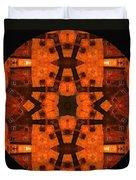 The Color Orange Mandala Abstract Duvet Cover