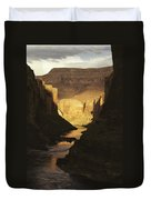 The Colorado River Flows Duvet Cover