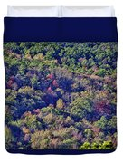 The Colors Of Autumn Duvet Cover by Douglas Barnard