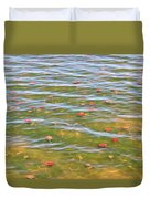 The Colors Of Lily Pads Duvet Cover