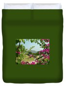 The Colors Of Paros Duvet Cover