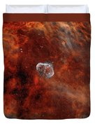 The Crescent Nebula With Soap-bubble Duvet Cover by Rolf Geissinger
