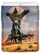 The Crucifixion Of A Messianic Martyr Duvet Cover by Mark Stevenson
