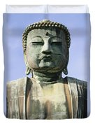 The Daibutsu Or Great Buddha, Close Up Duvet Cover