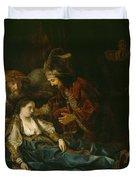 The Death Of Lucretia - Mid 1640s  Duvet Cover by Harmensz van Rijn Rembrandt