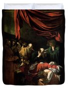 The Death Of The Virgin Duvet Cover by Caravaggio
