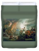 The Defear Of The Floating Batteries At Gibraltar Duvet Cover