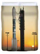 The Delta II Rocket On Its Launch Pad Duvet Cover