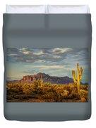 The Desert Golden Hour  Duvet Cover